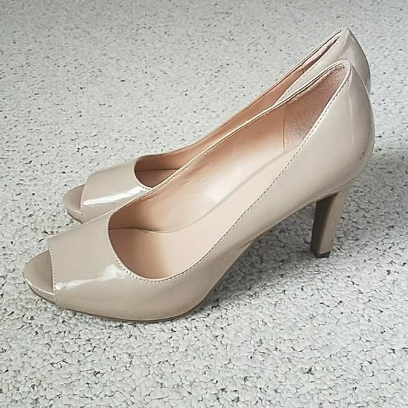 Shoes   Franco Sarto Nude Peep Toe